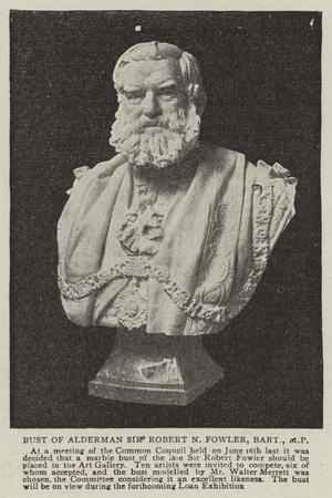 Bust of Alderman Sir Robert N Fowler, Baronet, MP