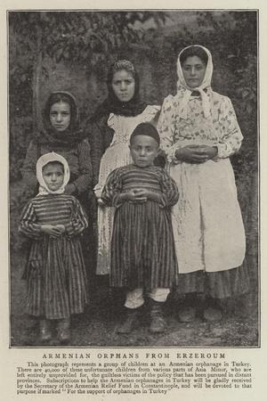 Armenian Orphans from Erzeroum
