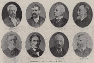 Recipients of Birthday Honours