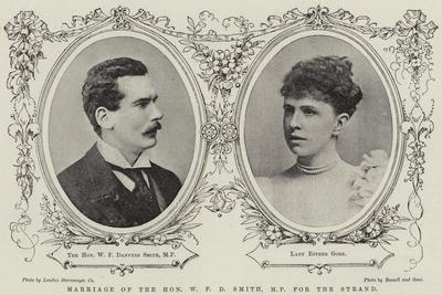 Marriage of the Honourable W F D Smith