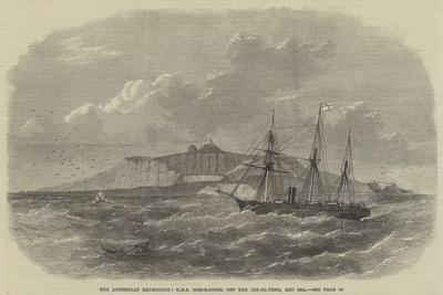 The Abyssinian Expedition, HMS Coromandel Off the Jeb-El-Teer, Red Sea