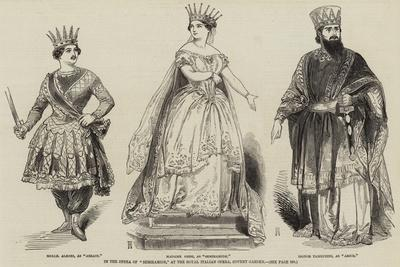 In the Opera of Semiramide, at the Royal Italian Opera, Covent Garden