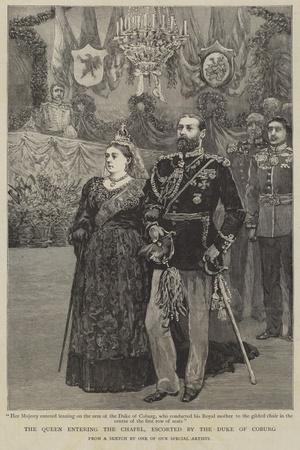 Queen Victoria Entering the Chapel, Escorted by the Duke of Coburg