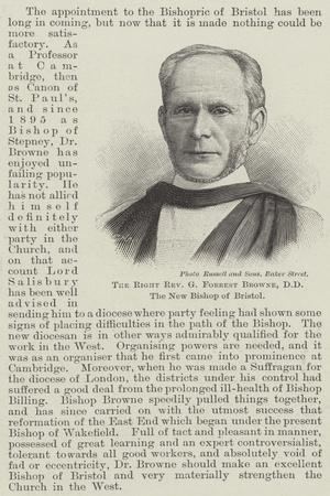 The Right Reverend G Forrest Browne, Dd, the New Bishop of Bristol