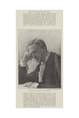 The Late Baron Pollock