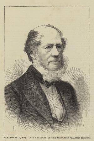 H S Pownall, Esquire, Late Chairman of the Middlesex Quarter Sessions