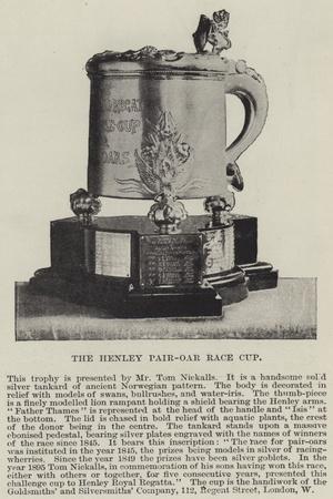 The Henley Pair-Oar Race Cup