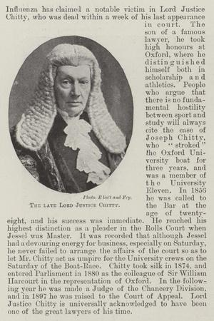 The Late Lord Justice Chitty