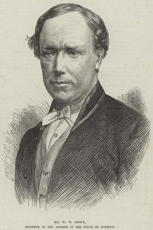 Mr W H Stone, Seconder of the Address in the House of Commons