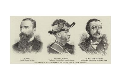 The Crisis in Siam, Portraits of French and Siamese Officials