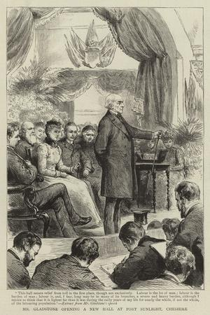 Mr Gladstone Opening a New Hall at Port Sunlight, Cheshire