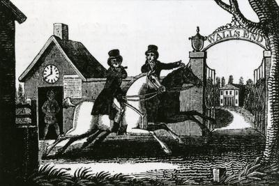 Hunting Razors or Shaving Made Easy on Horseback If Required, 1800