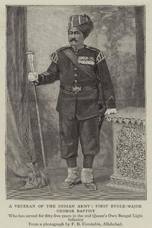 A Veteran of the Indian Army, First Bugle-Major George Baptist