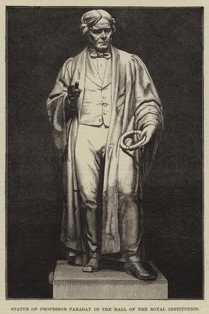 Statue of Professor Faraday in the Hall of the Royal Institution