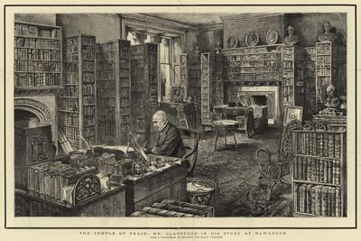 The Temple of Peace, Mr Gladstone in His Study at Hawarden