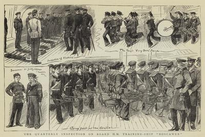 The Quarterly Inspection on Board Hm Training-Ship Boscawen