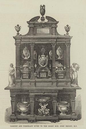 Cabinet and Porcelain Given to the Right Honourable John Bright
