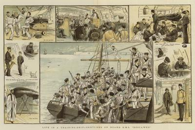 Life in a Training-Ship, Sketches on Board H M S Boscawen