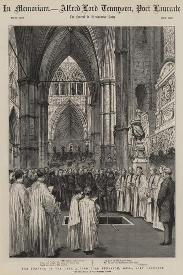 The Funeral Of The Late Alfred Lord Tennyson Poet Laureate