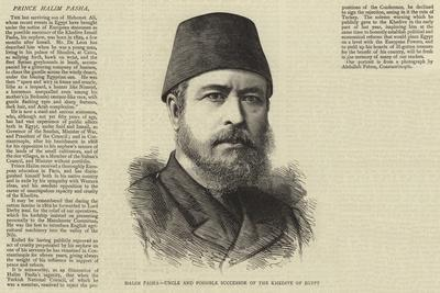 Halim Pasha, Uncle and Possible Successor of the Khedive of Egypt