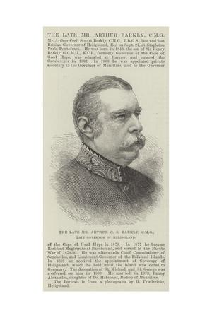 The Late Mr Arthur C S Barkly, Cmg, Late Governor of Heligoland