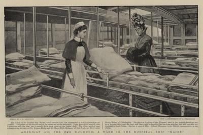 American Aid for Our Wounded, a Ward in the Hospital Ship Maine