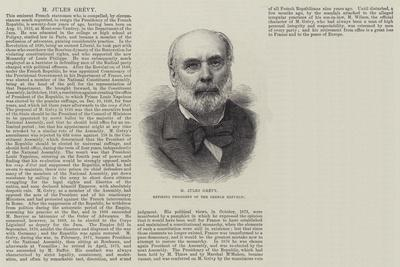 M Jules Grevy, Retiring President of the French Republic