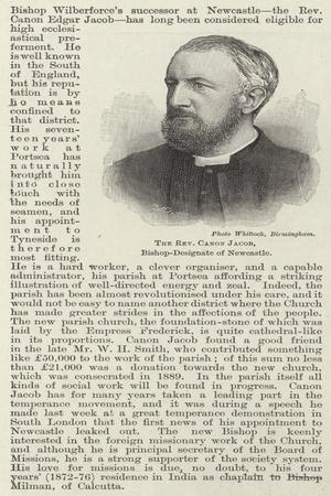 The Reverend Canon Jacob, Bishop-Designate of Newcastle
