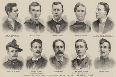 Officers and Men Who Took Part in Dr Jameson's Raid