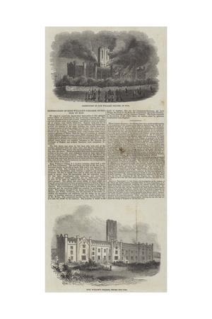 Destruction of King William's College in the Isle of Man
