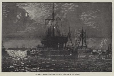 The Naval Manoeuvres, the Gun-Boat Flotilla in the Downs