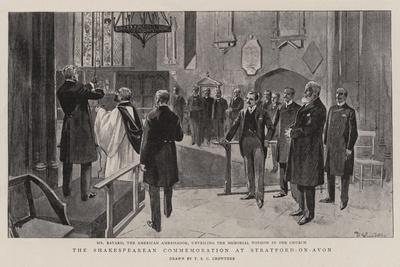 The Shakespearean Commemoration at Stratford-On-Avon
