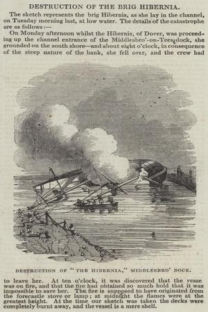 Destruction of The Hibernia, Middlesbro' Dock