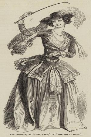 Mrs Nisbett, as Constance, in The Love Chase