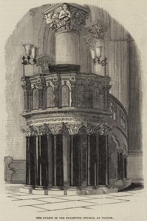 The Pulpit in the Byzantine Church, at Wilton