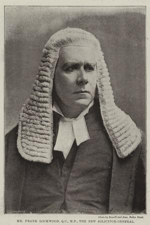 Mr Frank Lockwood, the New Solicitor-General