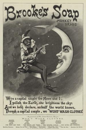 Advertisement, Brookes's Soap, Monkey Brand