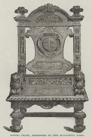 Bardic Chair, Presented to the Successful Bard