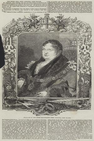 The Right Honourable John Johnson, Lord Mayor