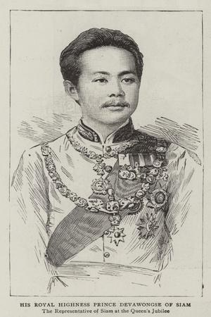 His Royal Highness Prince Devawongse of Siam
