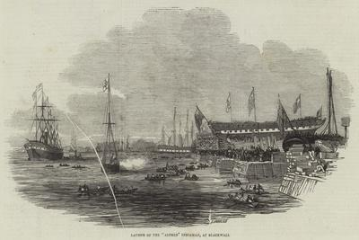 Launch of the Alfred Indiaman, at Blackwall