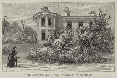 One Ash, Mr John Bright's House at Rochdale
