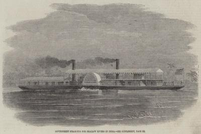 Government Steam-Tug for Shallow Rivers in India