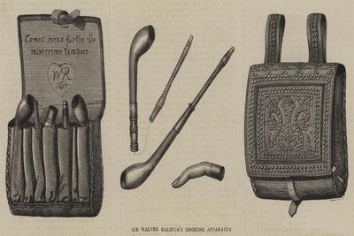 Sir Walter Raleigh's Smoking Apparatus