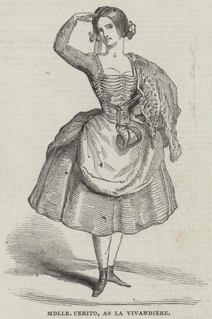 Mademoiselle Cerito, as La Vivandiere