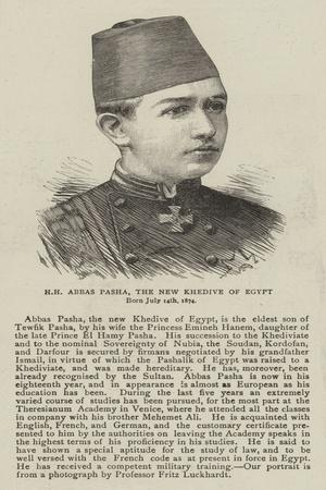 Hh Abbas Pasha, the New Khedive of Egypt