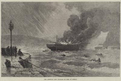 The American Ship Wallace on Fire at Torbay