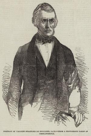 Portrait of Viscount Stratford De Redcliffe