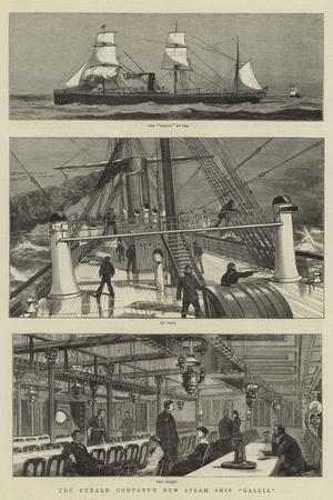The Cunard Company's New Steam Ship Gallia