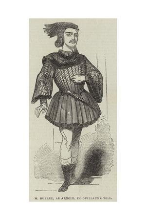 M Duprez, as Arnold, in Guillaume Tell